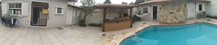 Casa de Vila -Bertioga- Piscina compartilhada