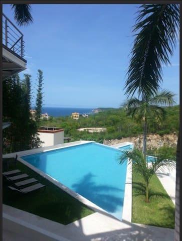 Loft moderno terraza vista al mar - Santa María Huatulco - Apartamento