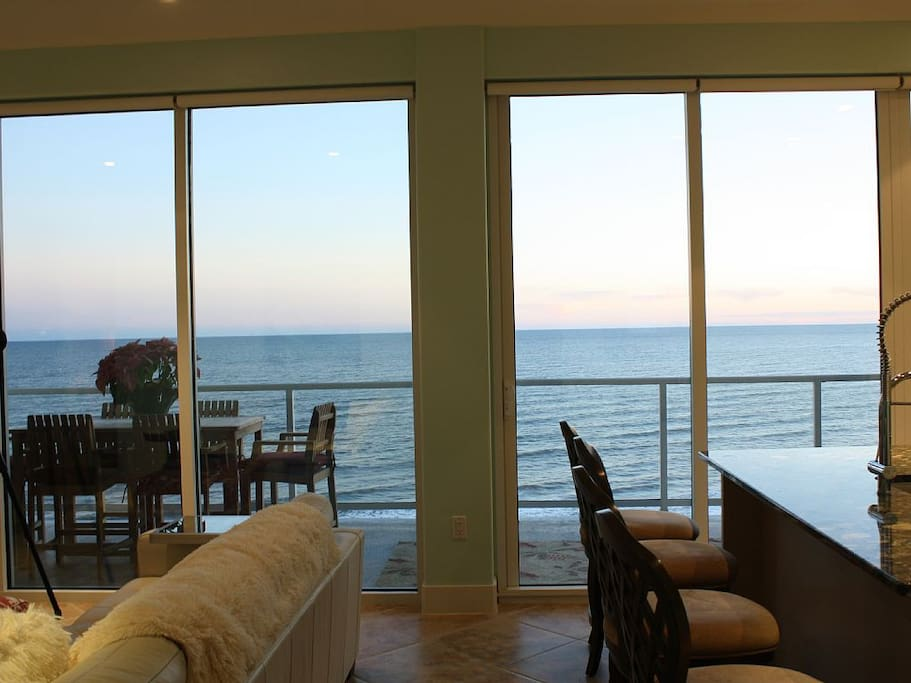 Unobstructed panoramic views of the Gulf from your private patio.