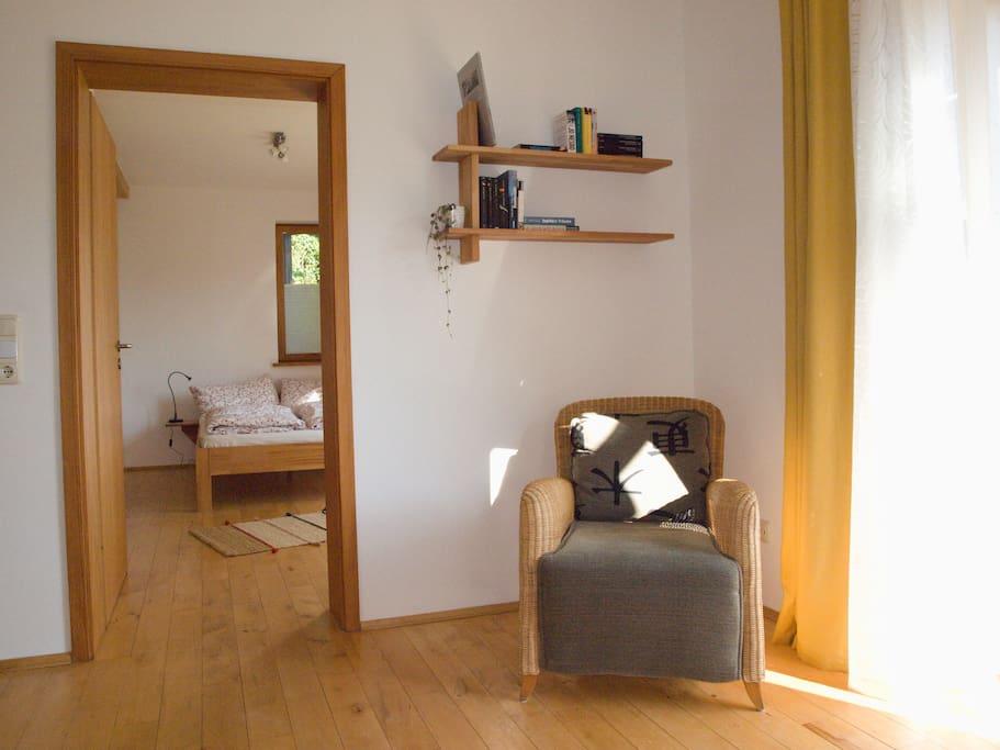 Wohnzimmer / Zugang Schlafzimmer