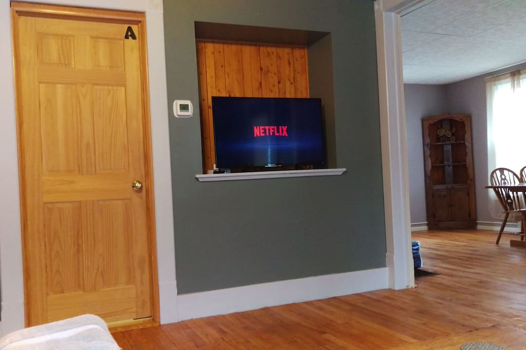 Watch Netflix (account include) or your own Amazon prime, hulu, accounts on the TV