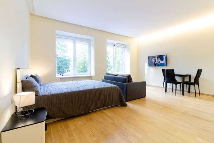 ༄Comfortable Blue Wave Studio In City Center +Pkg༄