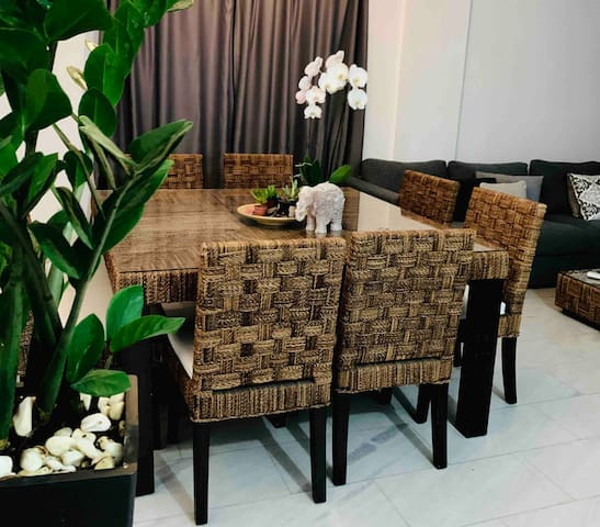 Deluxe Flat with Garden, Balcony 4K Cable Tv, Wifi