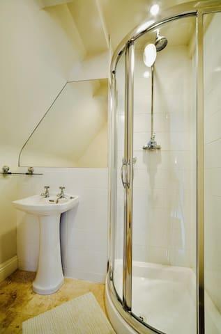 An en suite shower room.