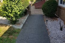 Walkway to private entrance in back