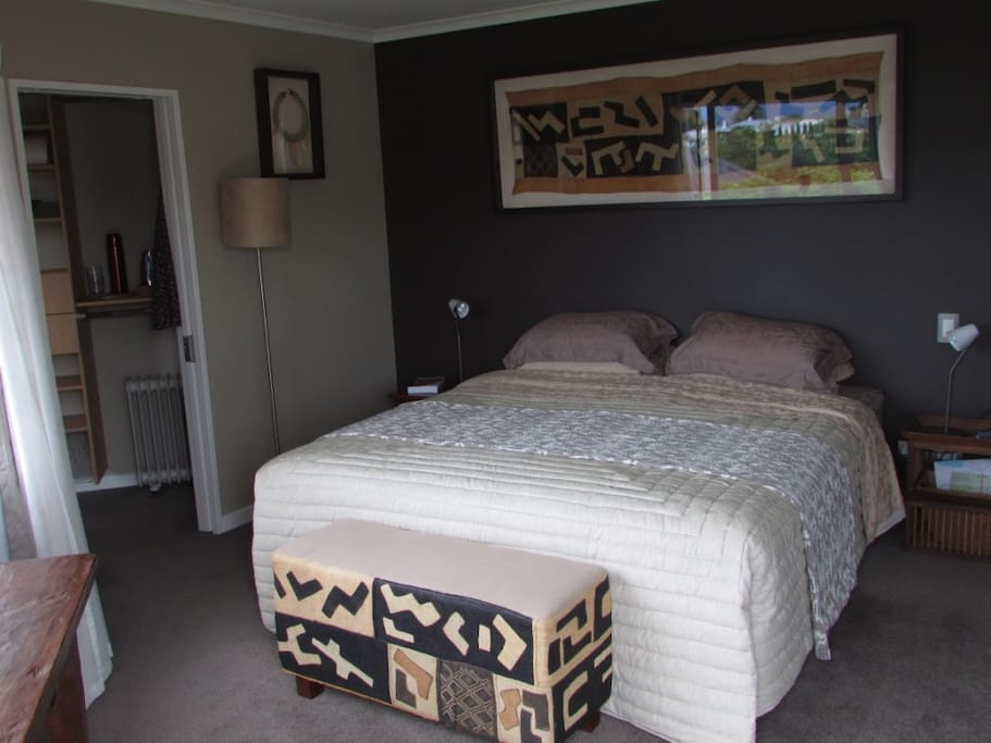 Super King bed with quality linens.