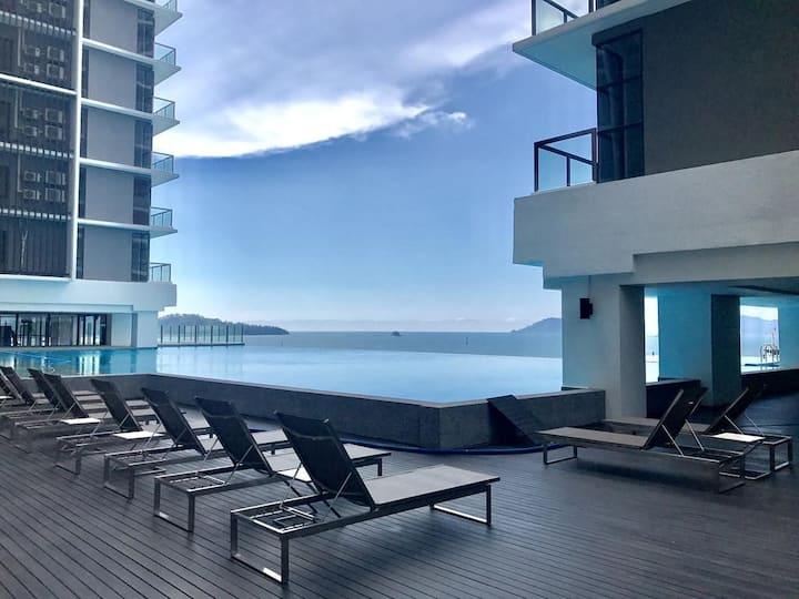 GRAND JESSELTON - Seaview CBD3房3卫市中心高级海景公寓바다 콘도미니엄