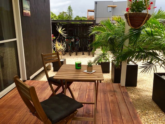 Your covered deck area (BBQ to the right)