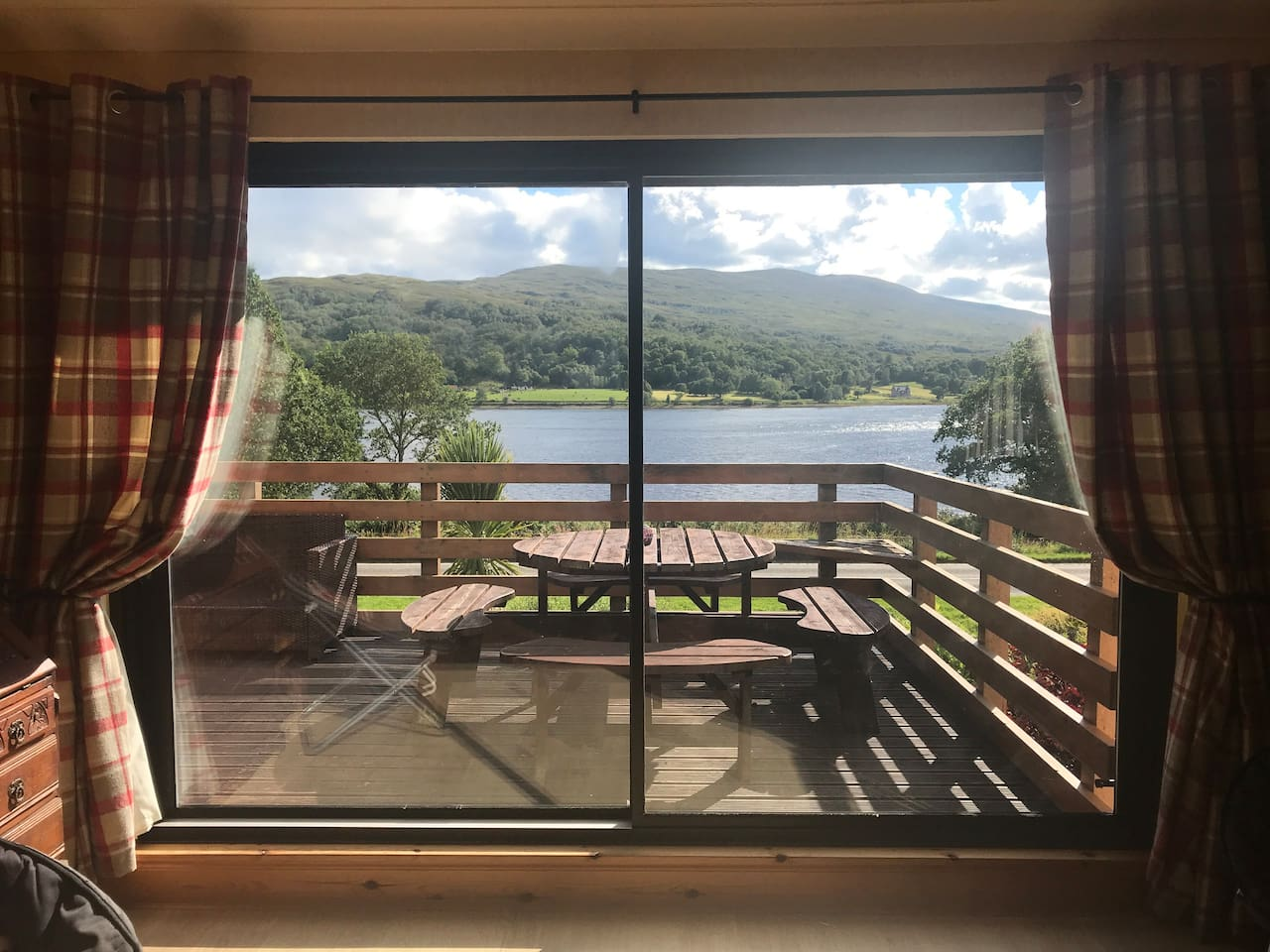 """Welcome to our home """"Solmar"""" which translates to sun & sea. This is the view from the lounge over looking Loch Eil"""
