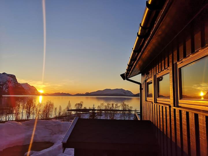 House in the heart of Lyngen alps. Best view