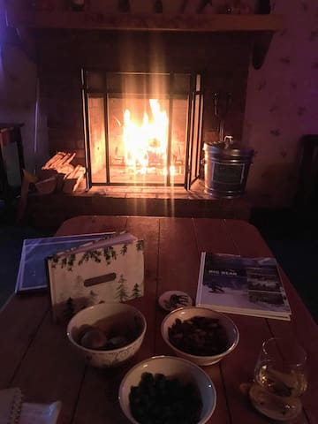 Cozy nights by the fire.