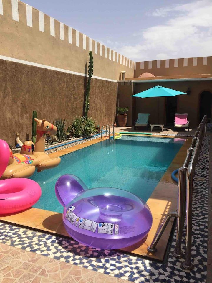 Riad atypique avec piscine sans vis à vis