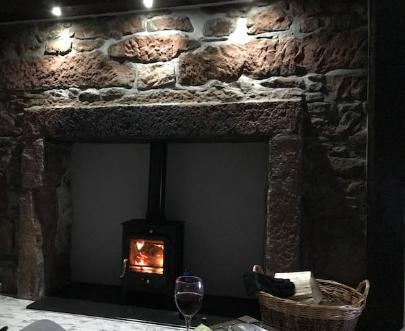 Log burner for a snug night in.