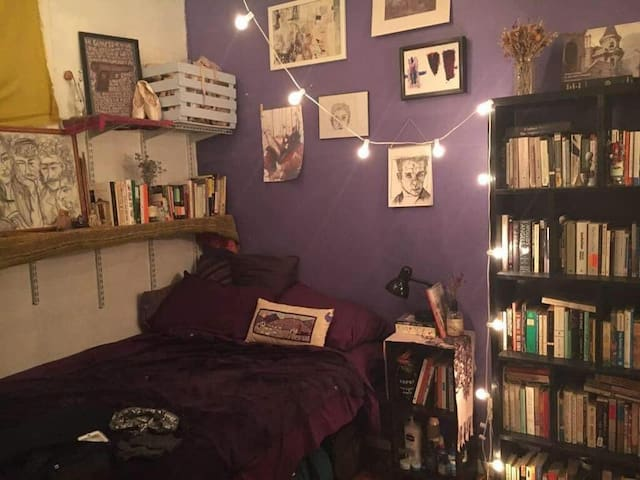 Clinton Hill Purple Room in Artists Loft