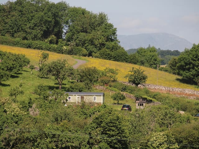 Idyllic lake district farm retreat caravan.