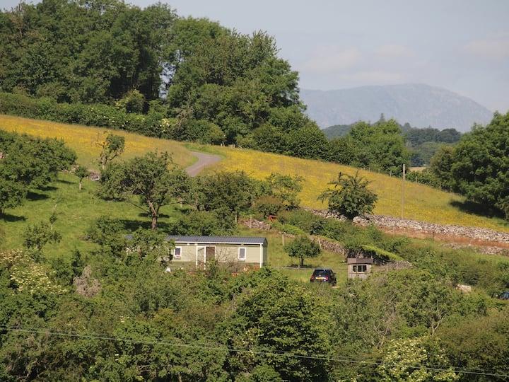 Idyllic lake district farm retreat caravan.