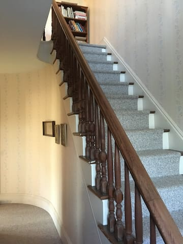 Guest suite has a private entrance to the second floor accomodations