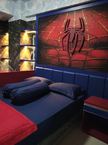 Spiderman Room at Student Castle, Yogyakarta