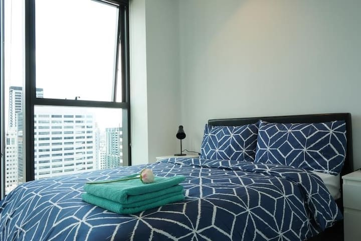 Melbourne Central 2BR Bright StunningView FreeTram