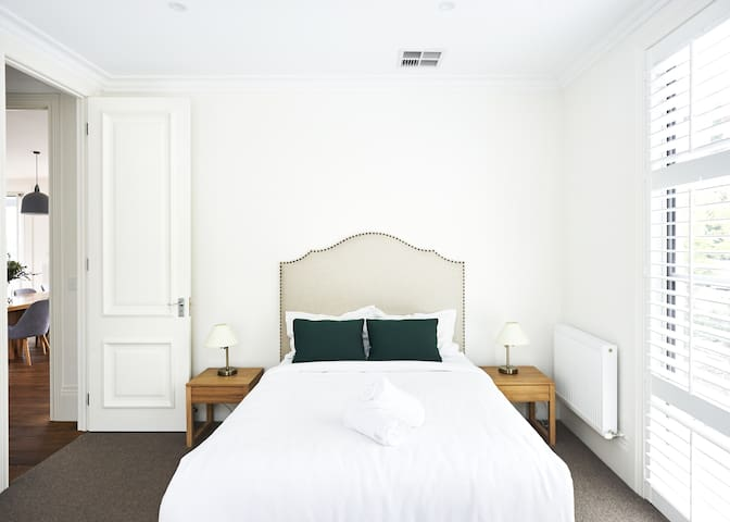 This is the guest room downstairs with queen bed and en-suite
