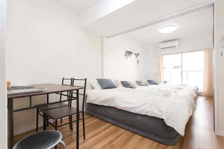 Osaka/Luxurious apt only 3min to sta./Freewifi - Nishi-ku, Ōsaka-shi - Leilighet
