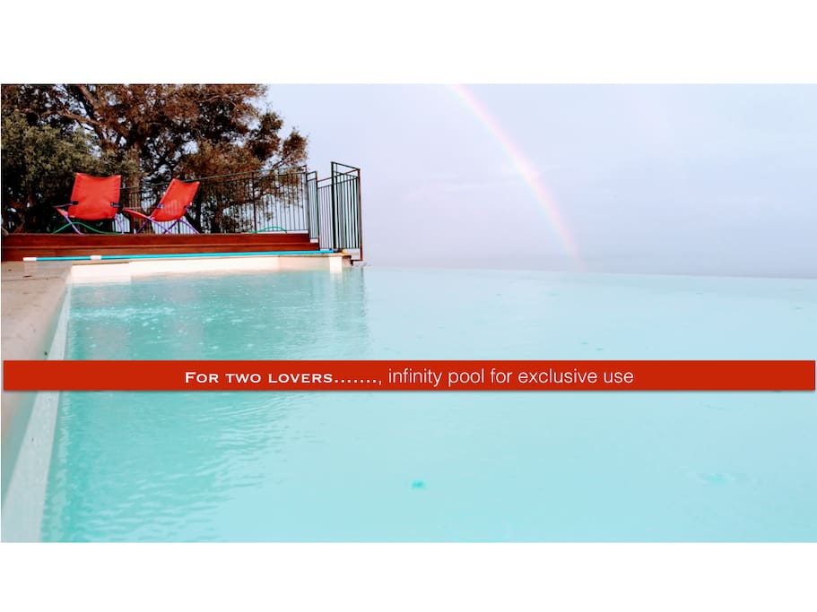 infinity pool ; Exclusive for two lovers ..