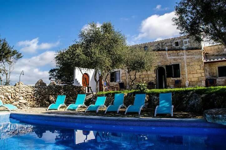 Preciosa casa rural  con piscina equipada para 12 - Alaior - Villa