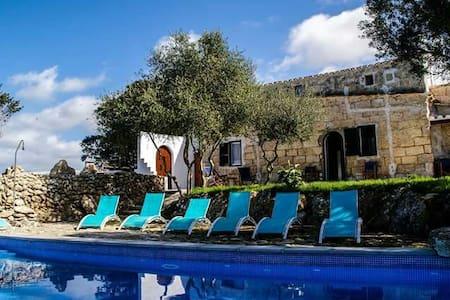 Preciosa casa rural  con piscina equipada para 12 - Alaior - Huvila