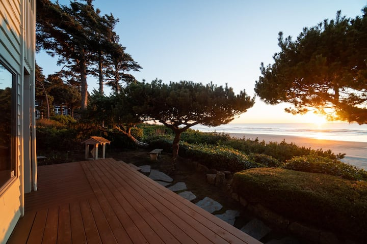 Oceanfront views & nearby beach access at this ideal Newport vacation rental!