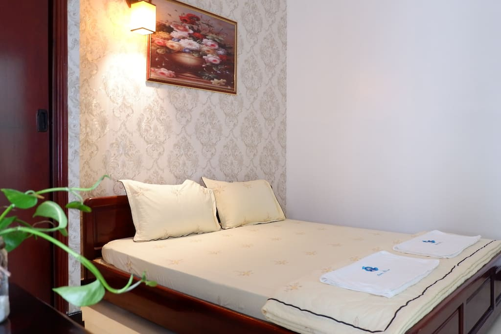 Bedroom 305 with a comfortable double bed for great night's sleep