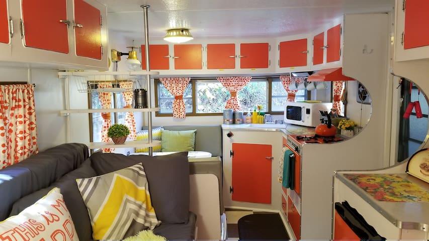 Glamping in a 1965 Vintage Camper!