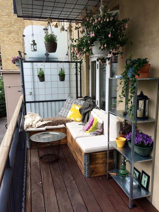 Balcony in summer.