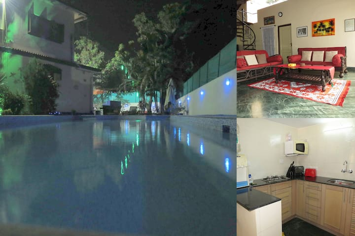 02) Spacious 2 Bed Pvt Apart Nagoa Sleeps 4 & WiFi - Saligao - Apartamento