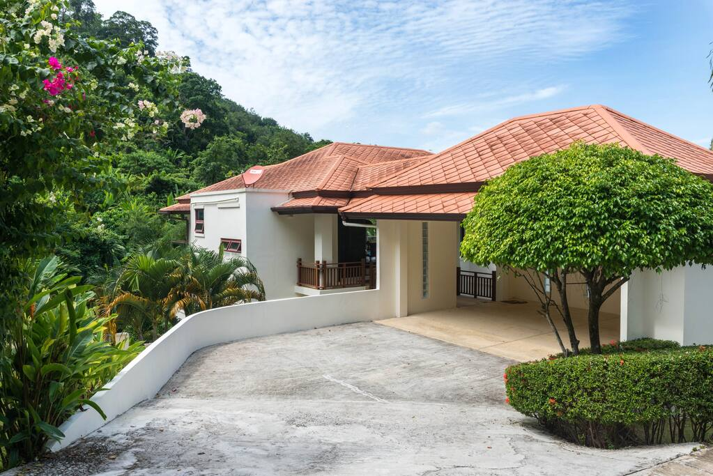 Spacious with a view and exquisite landscaping.