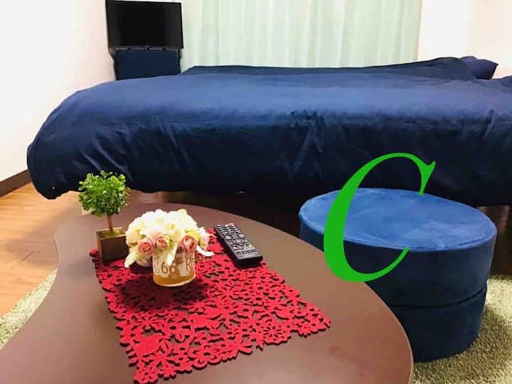 ☆名古屋で安心な宿・ワンルームマンション貸切・旅行に仕事に静かで安全な宿・無料wifi・ペット可です