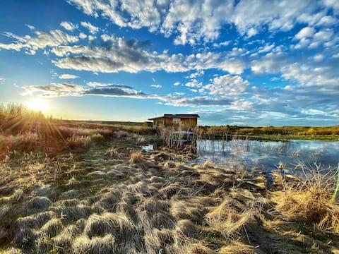 Cabaña privada con vista al río a 2 minutos de Cochrane