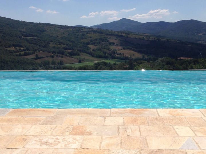 Casa Uliveto Tuscan-Umbrian border, with pool&view