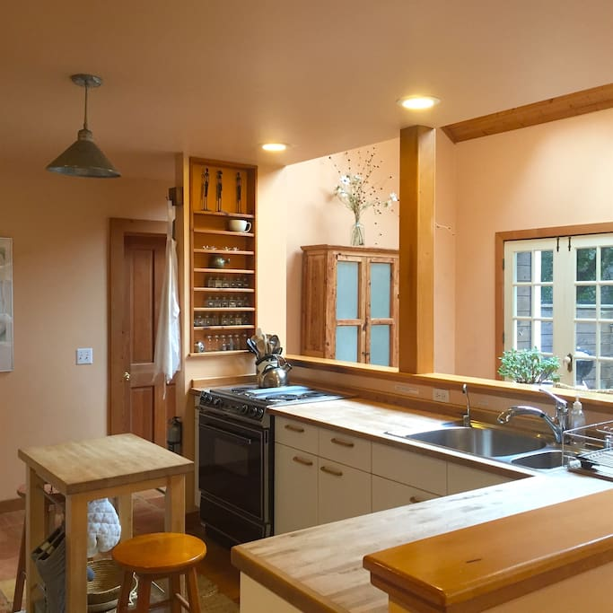Full kitchen is spacious and has an open concept