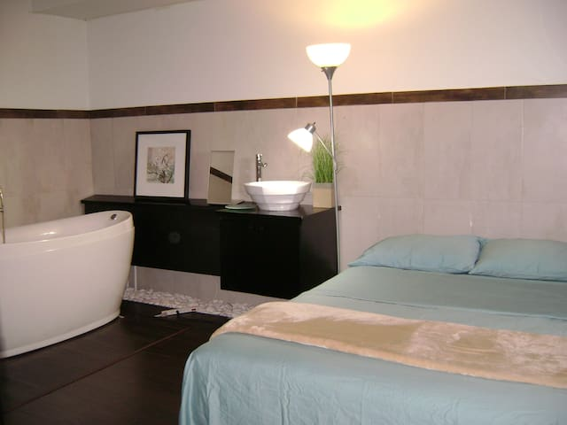 "Master suite con bañera ""fancy"""