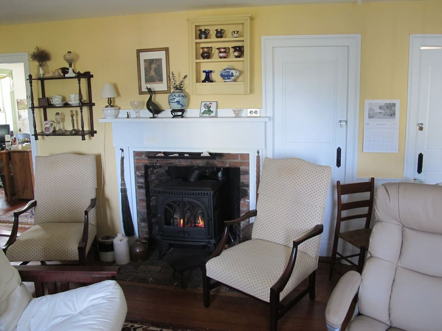 gas Fireplace  in sitting room