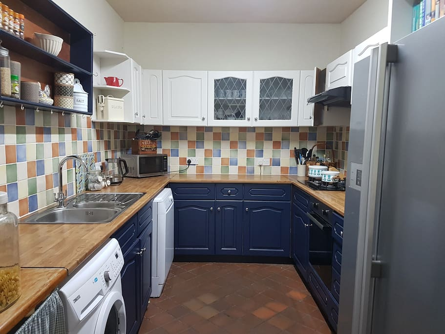 In our remodelled kitchen the cooker, gas hob, extractor fan and sink are all brand new