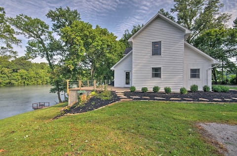 Riverfront House w/ Patio/Grill & Fishing Pier!