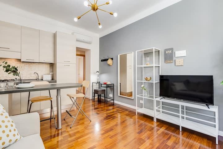 Appartamento confortevole, vista Piazza Testaccio