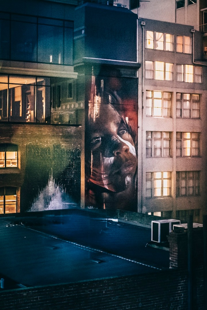 Melbourne rooftops street art at night!