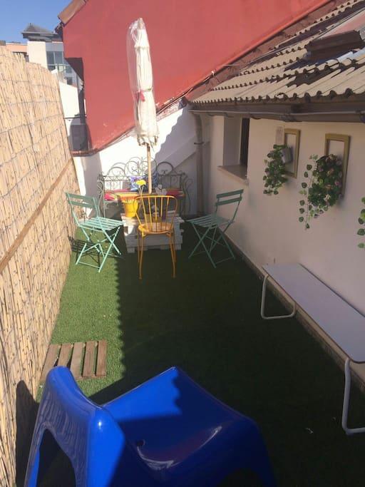 Una terraza con encanto ...