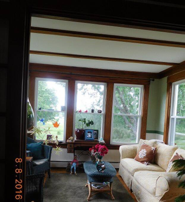 Sun Room off of living room - A great place to read