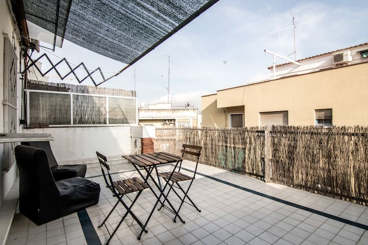 Double room with private terrace - Barcelona - Lägenhet