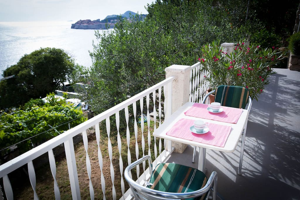Beautiful sea view from the terrace