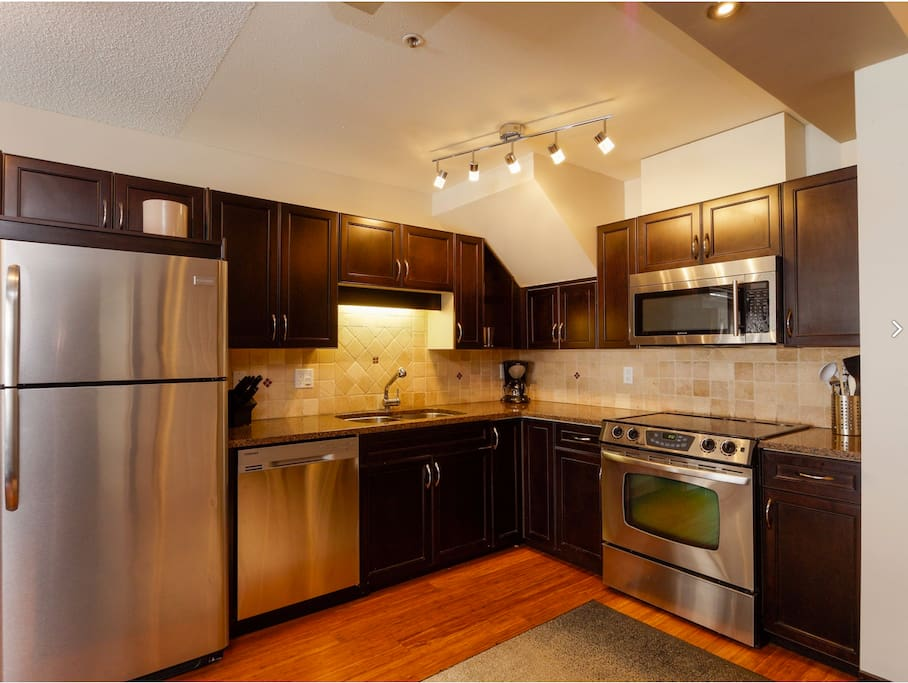 Fully renovated, full sized, fully equipped kitchen.