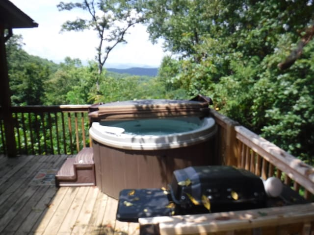 Private Hot Tub on Side Porch